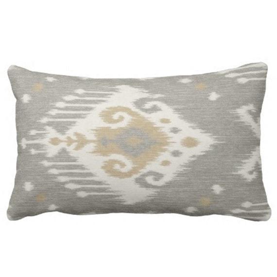 Earth Tone Throw Pillows.Decorative Neutral Pillows Earth Tone Pillows Throw Pillow Ikat Pillows Couch Pillow Neutral Toss Pillow Grey Ikat Pillow Grey Pillow