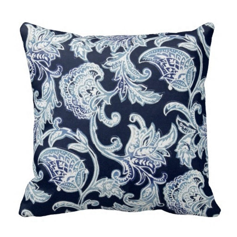 Miraculous Outdoor Pillows Navy Blue Outdoor Pillows Pillow Covers Outdoor Paisley Pillows Blue Paisley Pillows Blue Pillows Couch Pillow Covers Pabps2019 Chair Design Images Pabps2019Com