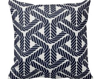 outdoor pillows, nautical pillows, navy blue pillow, pillow covers, nautical pillow covers, outdoor decor, dark blue pillow, waverly pillows