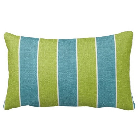Outdoor Pillows Striped Pillows Outdoor Throw Pillows Blue Etsy
