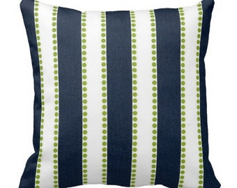 12 x 24 lumbar cover, 12 x 12 pillow cover, stripe pillow, green blue pillow, chair pillow, striped pillow cover, blue stripe pillow, lumbar