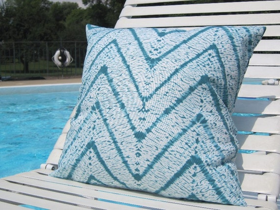 Outdoor Pillows Tie Dye Outdoor Pillows Turquoise Pillows Etsy
