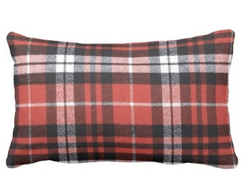 plaid pillows, flannel pillows, red buffalo check pillows, buffalo check pillow cover, couch pillows, throw pillows, red pillows, red plaid