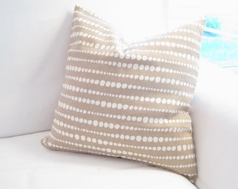 neutral pillows, polka dot pillow, 12x12 inch pillow, pillow cover, beige pillow, 14x14 pillow, earth tone pillow, accent pillow, tan pillow