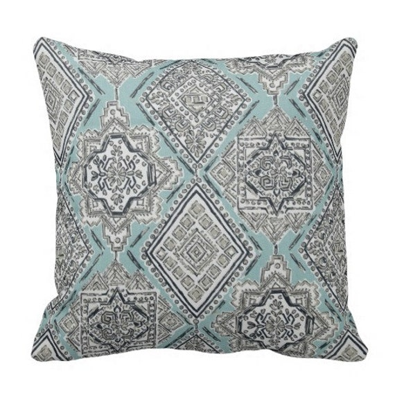 Decorative Pillows Blue Grey Pillows Pillows For Couch Etsy Custom Decorative Bed Pillows Blue