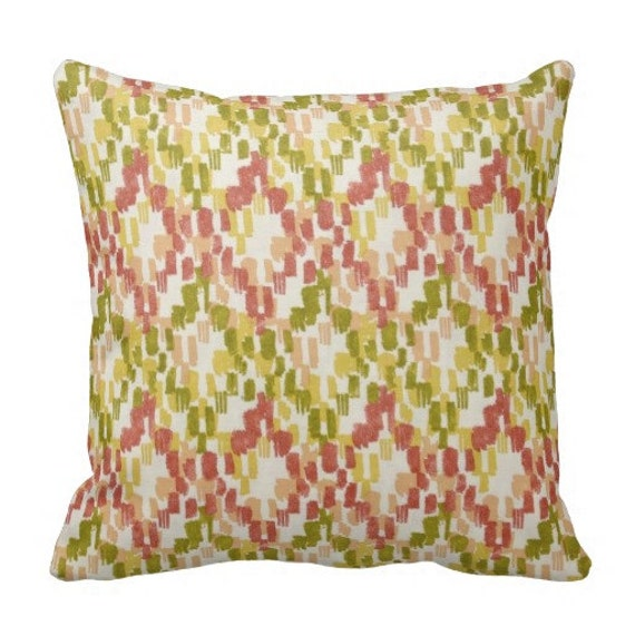 Outdoor Pillows 12x24 In Coral Outdoor Pillow Cover Green Etsy