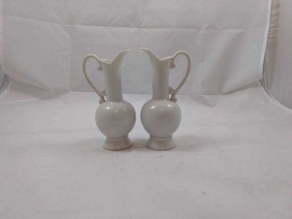 Vases Vintage Pair White Vases Made In Japan Decor Bud Vase Etsy