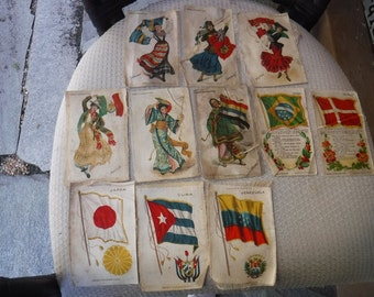 f59ffb800bc Nebo Cigarettes Tobacco Silks larger size Flags and ladies dancing with  flags