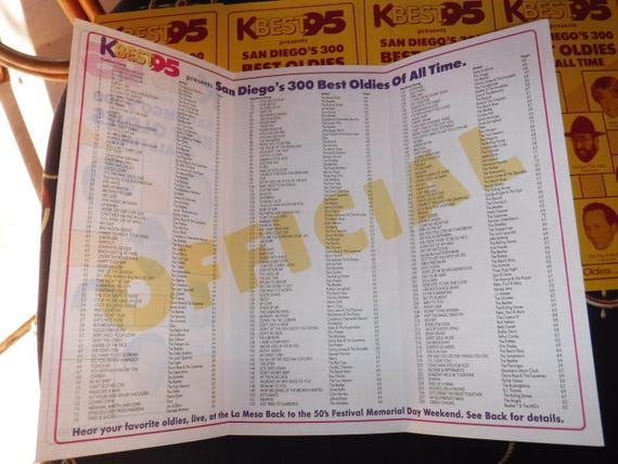 KBest 95 Presents San Diego's 300 Best Oldies of all time