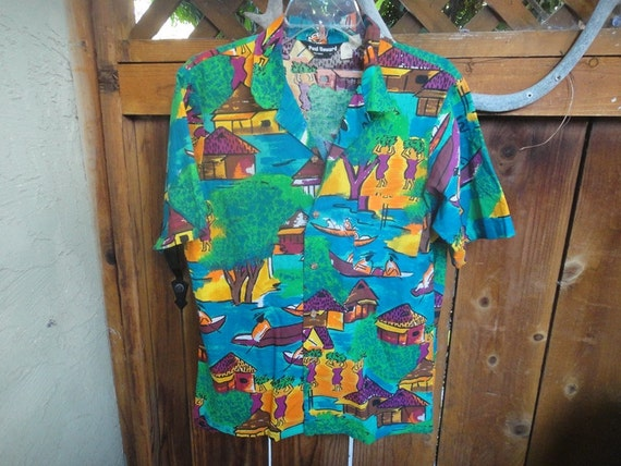 Paul Howard California 100 % cotton Aloha style Ma