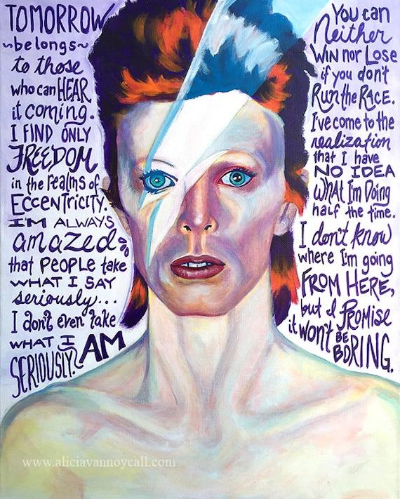 David Bowie, David Bowie Art, David Bowie Quotes, Ziggy Stardust, David  Bowie Portrait, David Bowie Painting, Inspirational Art, Art Prints