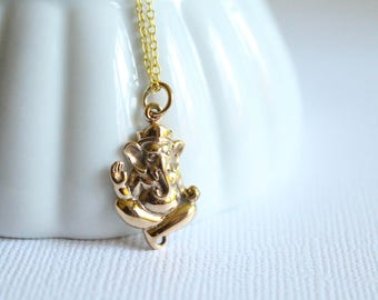 Ganesh Necklace, Available in Sterling Silver Plated Bronze and Bronze and Gold Filled