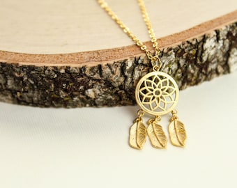 Dream Catcher Necklace, Available in Silver or Gold