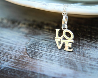 Love Sculpture Necklace in Sterling Silver