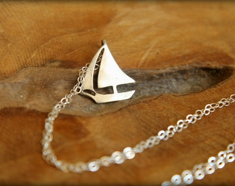 Sailboat Necklace in Sterling Silver