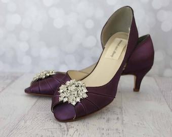 Plum wedding shoes  0b0bce0fa6