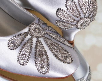738df78488d3 Silver wedding shoes