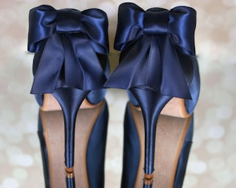 Navy wedding heels  fd7b44c304