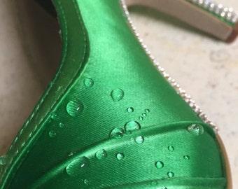 Water Resistant Coating, Dyeable Wedding Shoes, Satin Shoes, Wedding Shoes Silk, Wedding Shoes Satin, Custom Wedding Shoes, Satin Bridal