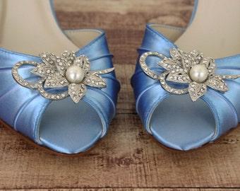 b818af0a7e60 Blue bridal shoes