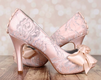 3a6f42fc39e Blush wedding shoes