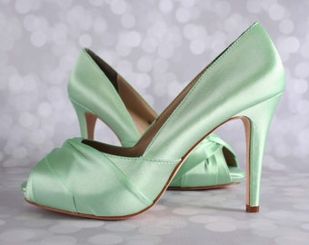 087fe53c1c5890 Mint wedding shoes