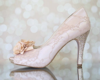 68c815f7aac5 Blush Wedding Shoes for Bride