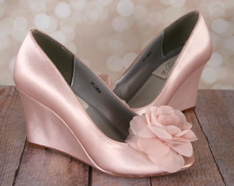 1ea1f311144e Blush wedding shoes