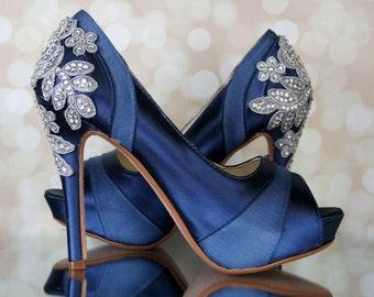 7d53e22bbf2e5 Navy wedding heels