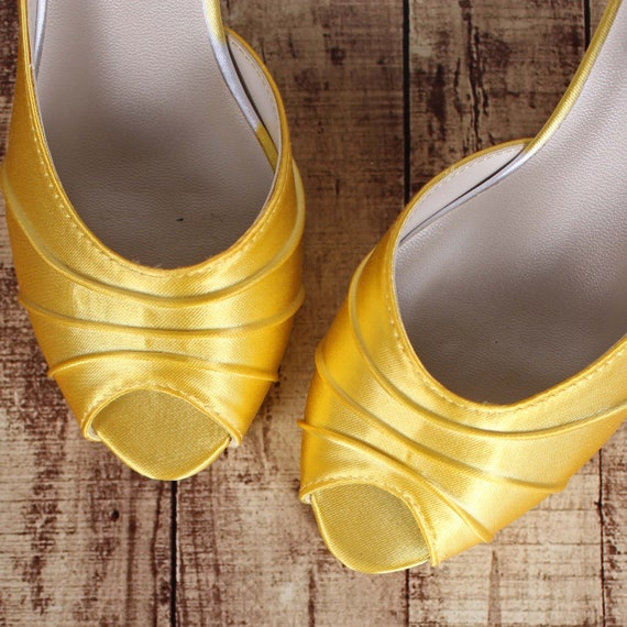 Yellow Wedding Shoes For Bride Dyeable Wedding Shoes Custom Etsy