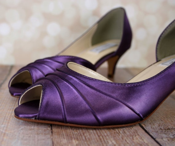 Purple Wedding Shoes For Bride Dyeable Wedding Shoes Custom Etsy