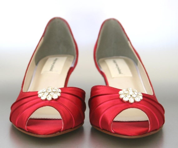 7ca93f9d4869 Wedding Shoes Bridesmaids Shoes Red Wedding Shoes Wide