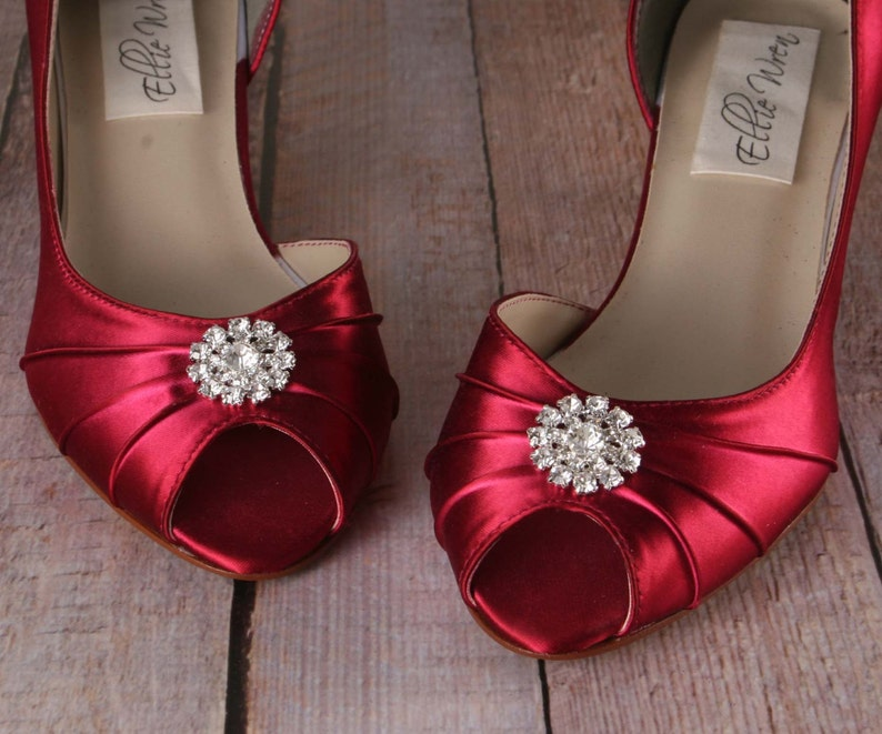 c42c1bd02c0 Wedding Shoes Bridal Heels Kitten Heel Red Wedding Shoes