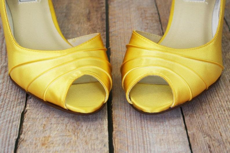 2aa949fb5 Yellow Wedding Shoes Hand Dyed Wedding Shoes Yellow Wedding