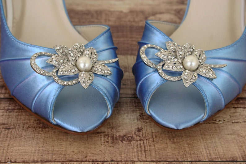 32590c1b6 Wedding Shoes Blue Wedding Shoes Something Blue Shoes   Etsy