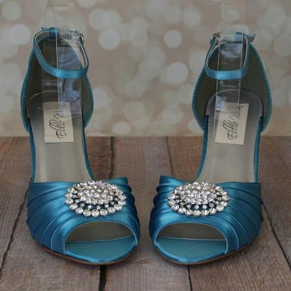 Wedding Shoes Turquoise Wedding Custom Wedding Shoes Etsy
