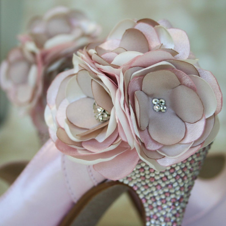f022816c083 Wedding Shoes Bridal Heels Pink Wedding Shoes Crystal