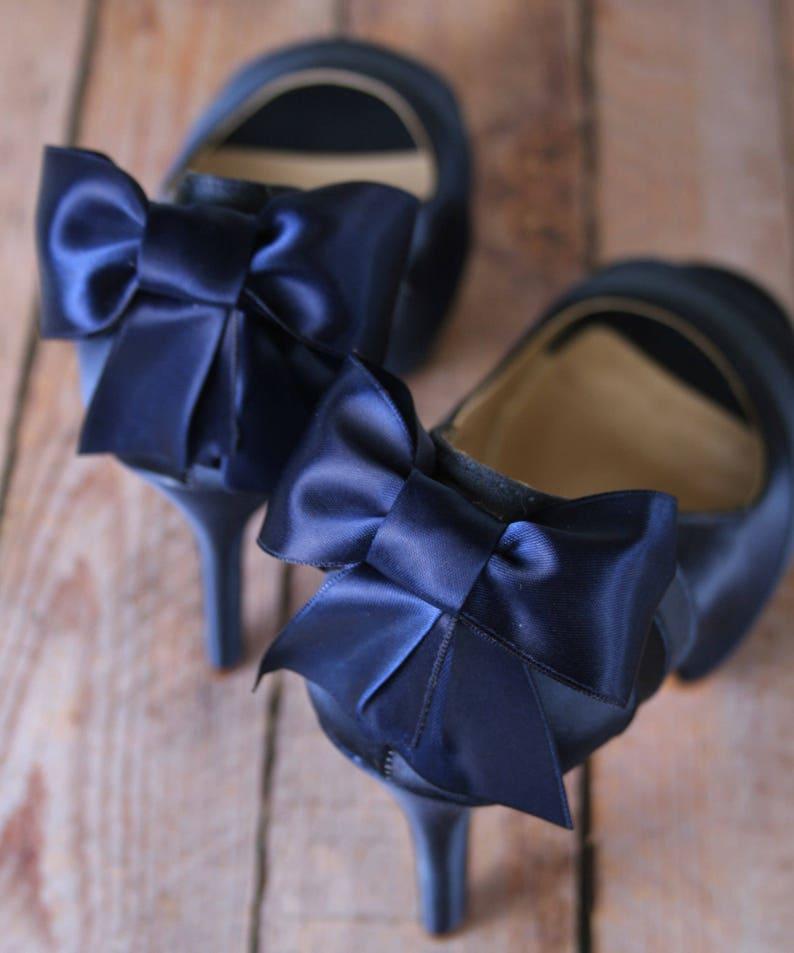 1344ffafead Navy Blue Wedding Shoes Low Heel Blue Bridal Accessories