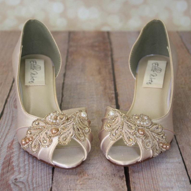 40cbd60b0b Ivory Wedding Shoes Champagne Wedding Shoes Ivory Bridal