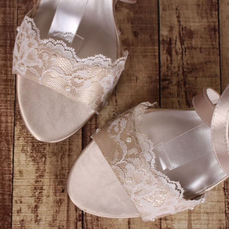 67570e0a373 Wedding Wedges Champagne Wedding Shoes Custom Wedding Shoes