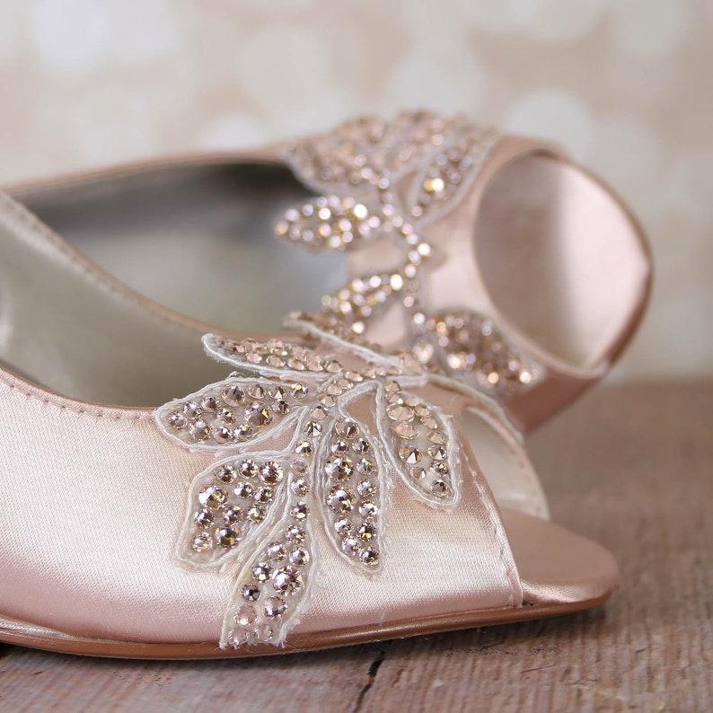 871aafeb0e7b Wedding Wedges for Bride Blush Wedding Shoes Bridal Wedges