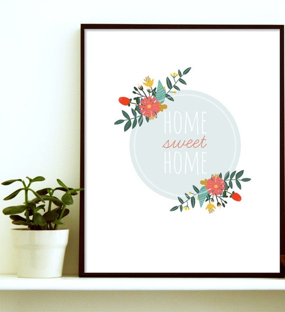 Home Sweet Home Print New Home Gift Christmas Gifts for Her | Etsy