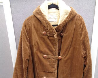 White Stag 1940's to 1950's Brown Corduroy Coat