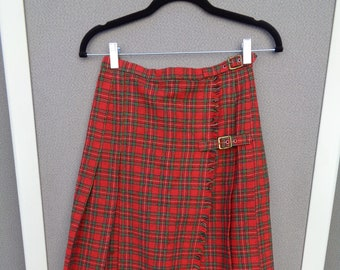 Vintage Joseph Magnin Plaid Skirt