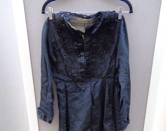 Victorian Black Silk Dress