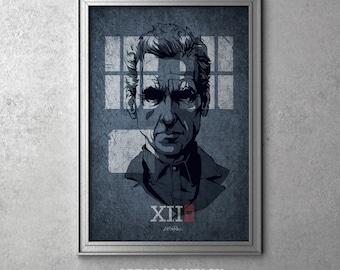 12th DOCTOR WHO Minimalist Poster Minimal Print Posteritty Peter Capaldi Art