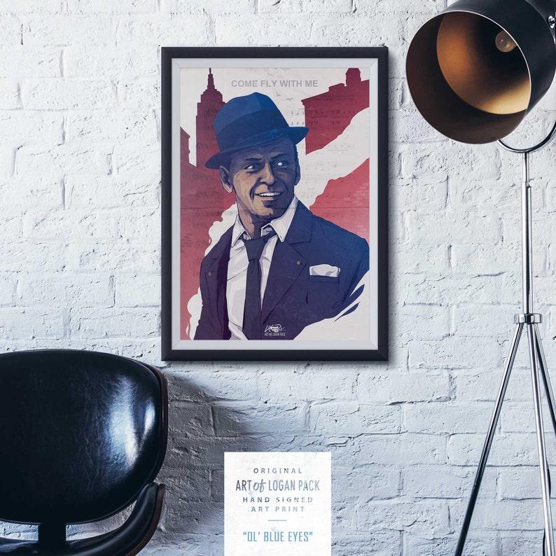 23188bc37 OL' BLUE EYES - Custom Song - Frank Sinatra - Custom Sheet Music - New York  - Classic Film / Concert - Original Art Print / Poster