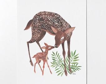 18 x 24 Deer Mom poster