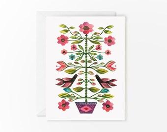 Romanian Folk Tapestry card