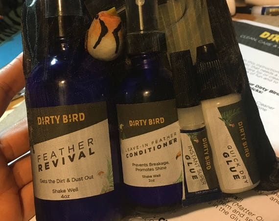 Dirty Bird Bag of Tricks - Care & Clean your Feathers; Burning man, festivals, halloween, raves, photoshoots